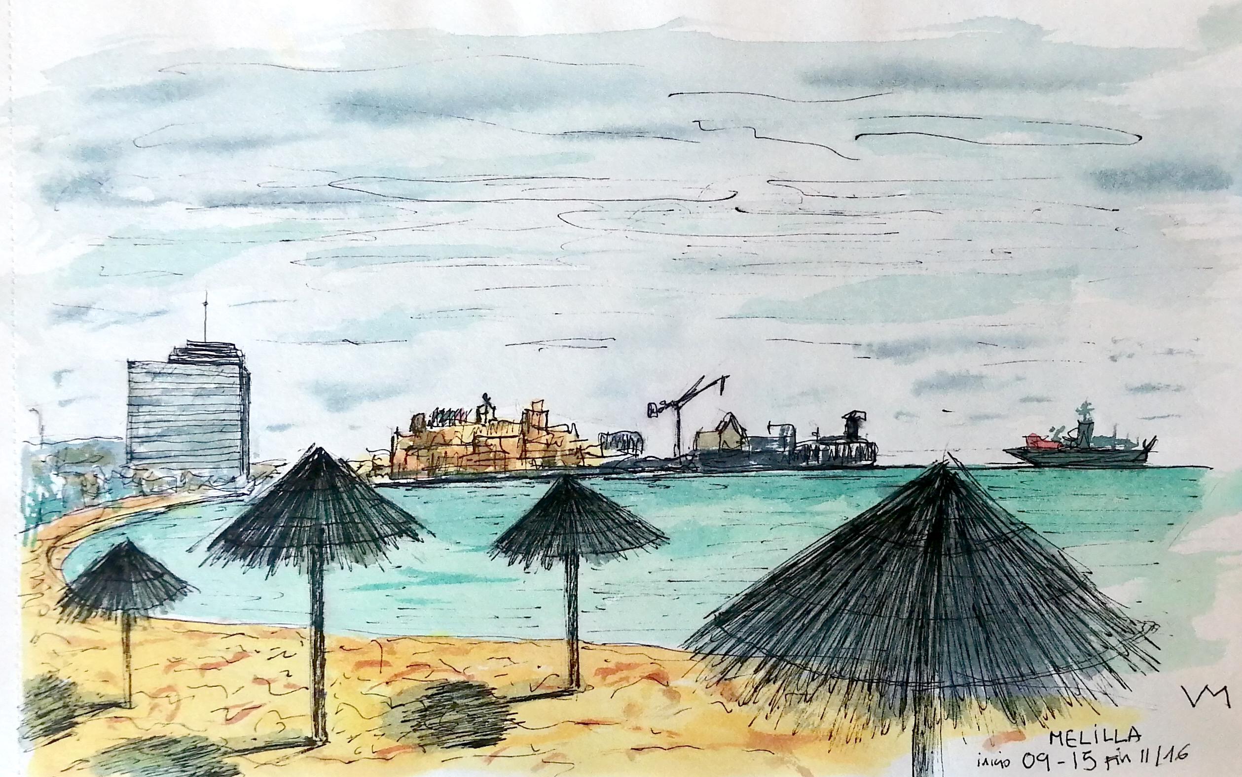 Habitabio - Dibujo - Playa de Melilla